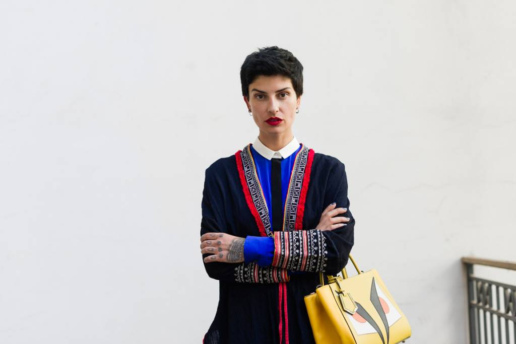 helena narra, make up artist, fendi bag, red lips, personal style, berlin