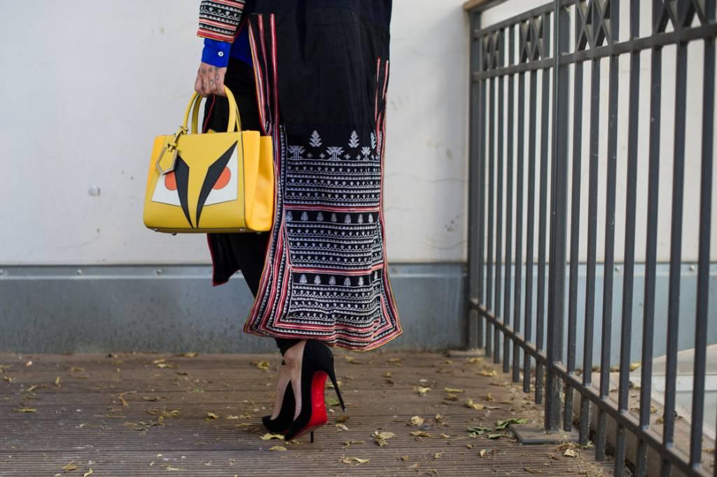 christian louboutin shoes, fendi bag, berlin street style, kimono