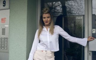 style inspiration, bell sleeve blouse, personal issue, office look