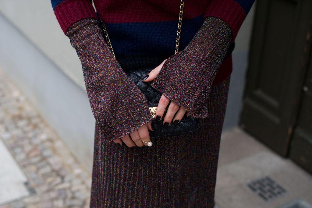 chanel bag, metallic, spring, carven