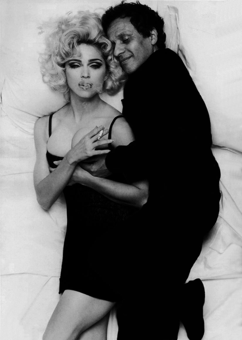 Azzedine Alaïa with Madonna by Steven Meisel