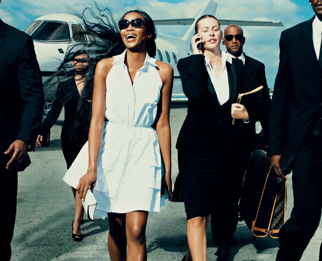 Naomi Campbell in Alaïa_ by Norman Jean Roy