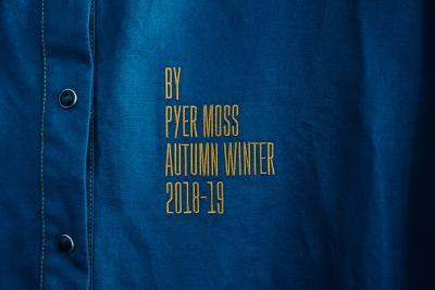 blue denim, press-studs, shirt, blue and yellow